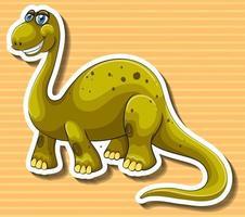 Brun dinosaurie med lyckligt ansikte