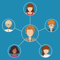 Netzwerk von Menschen vektor