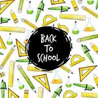 Akvarell tillbaka till skolmönsterbakgrund