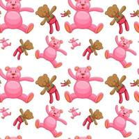 Nahtlose Musterfliesenkarikatur mit Teddybären