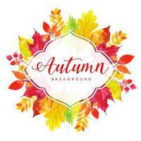 Aquarell-Herbstlaub-Rahmen
