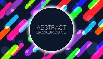 Abstrakt bakgrund med färgglada linjer och cirklar