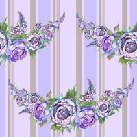 Aquarell Muster. Girlande aus Blumen. vektor