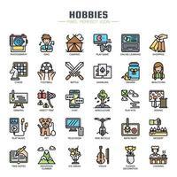Hobbys Elemente dünne Linie Icons