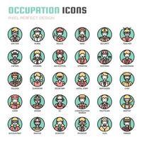 Beruf dünne Linie Icons vektor