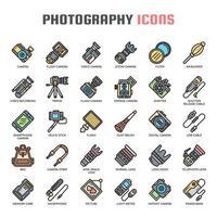 Fotografie dünne Linie Icons
