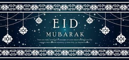 Eid islamischer Hintergrund vektor