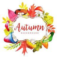 Schöner Herbstlaubrahmen