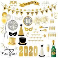 Silvester 2020 Grafiken vektor