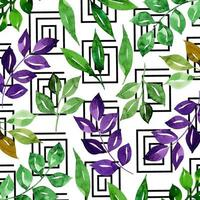 Aquarell Memphis Floral