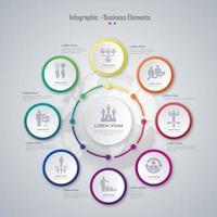färgglada infographic element design