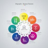 Affärsinfographic elementdesign