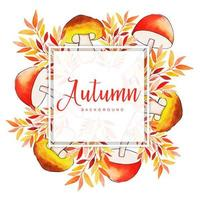 Vacker akvarell Autumn Leaves Frame