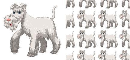 Nahtloses und getrenntes Hundemuster vektor