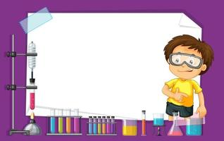 Rammalldesign med ungen i vetenskapslaboratorium