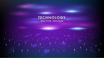 Futuristischer Hintergrund der Internetanschlussvernetzung vektor