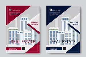 Röd och blå triangel design företags affärsmall