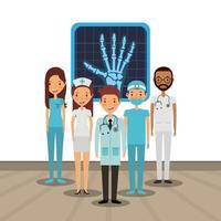 medizinische Gesundheitspflegekarte vektor