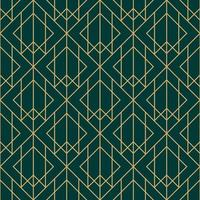 grönt och guld diamant geometriskt mönster