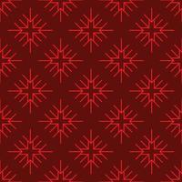sömlösa mönster röda geometriska snöflingor vektor