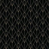svart och guld enkelt art deco mönster