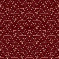 enkelt diamant art deco-mönster i rödbrun och guld