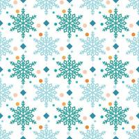 Schneeflockenmuster mit Diamanten und Punkten vektor