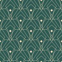 enkelt sömlös art deco geometriska mönster