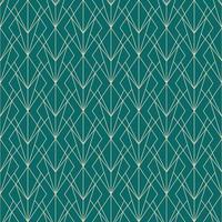 einfaches nahtloses geometrisches Diamantgrasmuster des Art Deco vektor