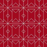 rotes und weißes nahtloses geometrisches Muster vektor