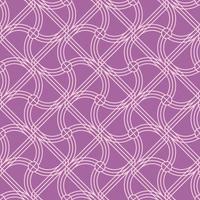 nahtlose lila abgerundete Form Muster vektor