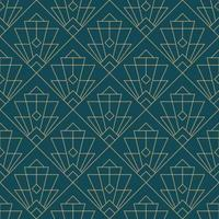 enkelt sömlös art deco geometriska mönster vektor