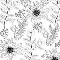 exotische Sonnenblumen mit Niederlassungen verlässt Hintergrund