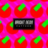 Ljusa färgglada former i neon