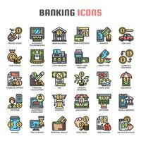Banking dünne Linie Symbole