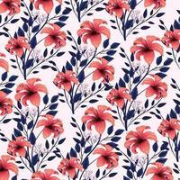 exotische Blumenanlagen mit Schönheit verlässt Hintergrund vektor