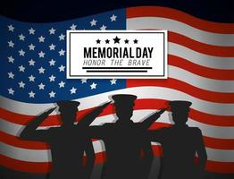 Soldaten mit Emblem und USA-Flagge