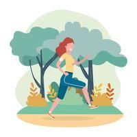 Frau üben Laufen Übung Aktivität