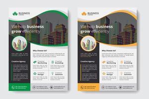 Företags affärsmall med byggnader i vågigt utklipp vektor