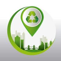 Grüne Energie und Ökologie vektor