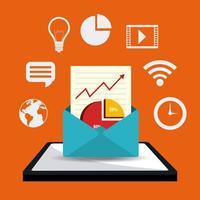 Digital marknadsföring designkoncept