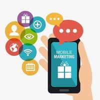 Einkaufen, E-Commerce und Marketing vektor