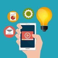 Digital marknadsföringsdesign vektor