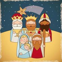 Krippe Dreikönigstag Weihnachten
