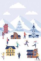 Winterferien Weihnachten vektor
