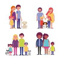 Reihe von Familien vektor