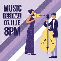Musikfestivalaffisch vektor