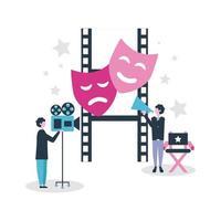 Produktion von Filmleuten vektor
