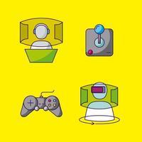 Videospiele-Design-Set vektor