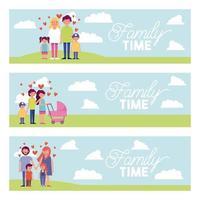 Familienzeit im Park Set vektor